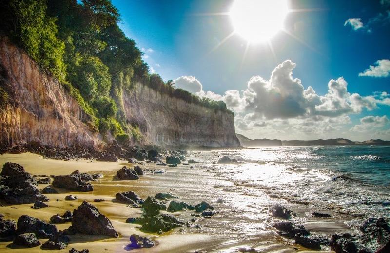 Falésias na Praia de Pipa