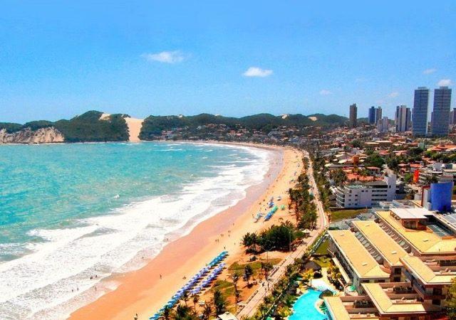Paisagem da praia em Natal no Rio Grande do Norte