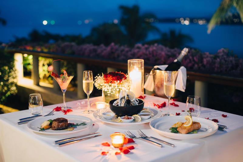 Jantar romântico em Natal