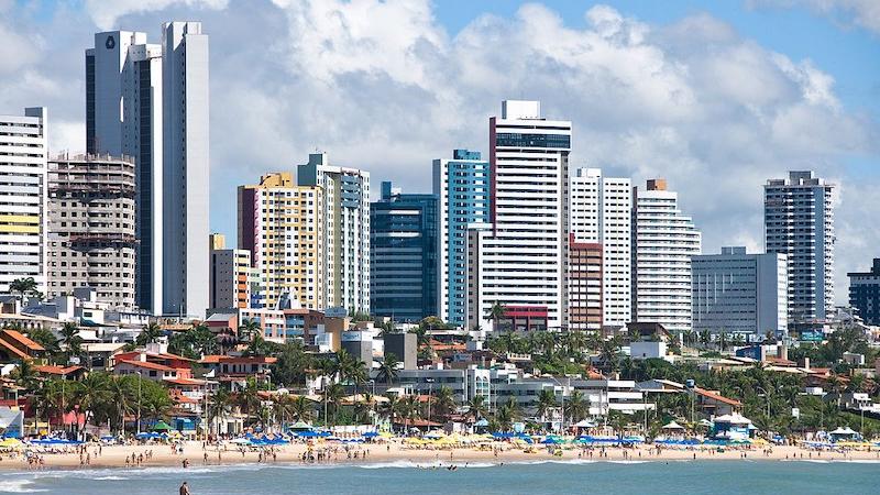 Praia na cidade de Natal no Rio Grande do Norte