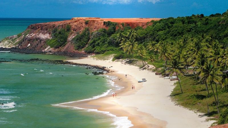 Vista aérea da Praia de Pipa